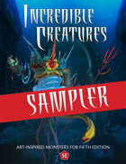 Incredible Creatures Sampler (Monsters for 5e)