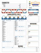 Unofficial Character Sheets - The Story Spanner