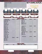 Starcana Fillable Character Sheet