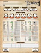Realms of Terrinoth Genesys Character Sheet (Form Fill, Dice Calc)