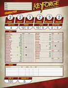 Secrets of the Crucible Genesys Character Sheet (Form Fill, Dice Pools)