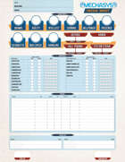 Mechasys Character Sheet