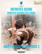 Infinities Rising - Genesys Character Cards - High Fantasy 2
