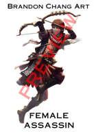 Fantasy Character Stock Art: Female Assassin