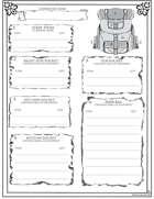 Back Pack Sheet