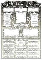 Hollow Land - Character Sheet