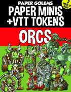 Paper Golems Paper Minis & VTT: Orcs