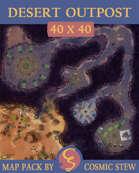 The Desert Guard Post, Hiren's Play [40x40]