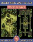 Lesser King Mantis Lair - HD/SD Battlemap Bundle, Tumultuan Jungle