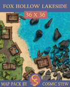 Fox Hollow, Lakeside Battlemap [36x36]