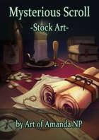 Mysterious Scroll Stock Art