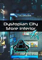 Dystopian City Store Interior 4K - Cyberpunk Animated Battle Map