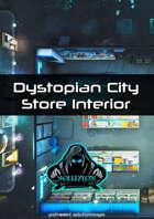 Dystopian City Store Interior 1080p - Cyberpunk Animated Battle Map