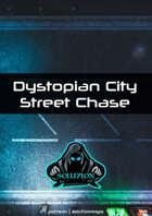 Dystopian City Street Chase 1080p - Cyberpunk Animated Battle Map