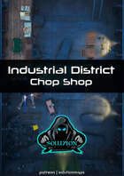 Industrial District Chop Shop 1080p - Cyberpunk Animated Battle Map
