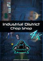 Industrial District Chop Shop 4k - Cyberpunk Animated Battle Map