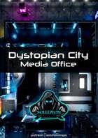 Dystopian City Media Office 1080p - Cyberpunk Animated Battle Map