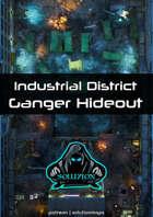Industrial District Ganger Hideout 1080p - Cyberpunk Animated Battle Map