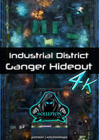 Industrial District Ganger Hideout 4k - Cyberpunk Animated Battle Map