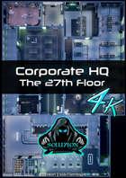 Corporate Headquarters 27th Floor 4k - Cyberpunk Animated Battle Map