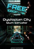 FREE Dystopian City Slum Elevator 4k & 1080p - Cyberpunk Animated Battle Map