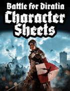 Character Sheets - Battle for Diratia
