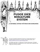 Fudge Dice Miniature System