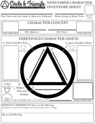 Circle & Triangle Character Inventory Sheets