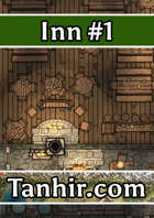 Inn 1 - A free generic inn map to use in any fantasy VTT campaign