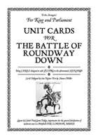 Battle of Roundway Down Unit Cards