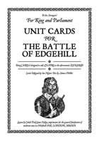 Battle of Edgehill Unit Cards