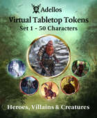 Adellos VTT Tokens - Set 1: 50 Characters