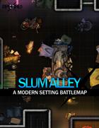 Slum Alley (24x30) Modern Battle Map
