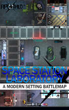 Space Station Laboratory (27x21) Modern Battle Map