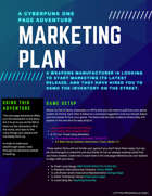 Marketing Plan - A Cyberpunk One Page Adventure