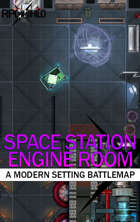 Space Station Engine Room (18x24) Modern Battle Map