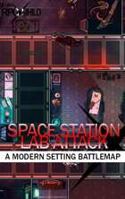 Space Station Lab Attacked! (27x21) Modern Battle Map