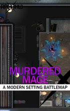 The Murdered Mage (33x23 IN) Modern Battle Map