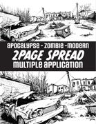 Apocalyptic/Modern US City Spread Illustration