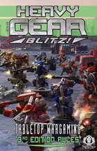 Heavy Gear Blitz! Tabletop Wargaming - 3rd Edition Rules - Small Format