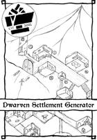 1 Page Generator - Dwarven Settlement