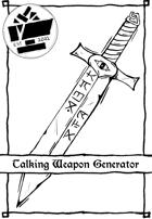 1 Page Generator - Talking Weapon Generator