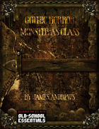 Gothic Horror Monsters-as-Class