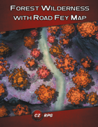 Forest Wilderness with Road - Fey Map
