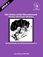 The Order of the Broadsword - 5e Solo Adventure