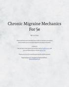 Chronic Migraine Mechanics For 5E