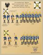 46th infantry regiment . Prussia the period Seven Years War (1756-1763)