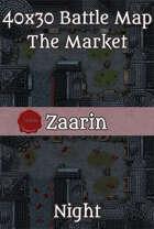 40x30 Fantasy Battle Map - The Market - Night