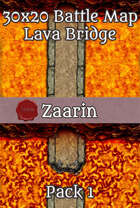 30x20 Fantasy Battle Map - Lava Bridge Pack 1
