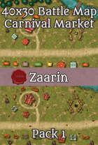 40x30 Fantasy Battle Map - Carnival Market Pack 1
